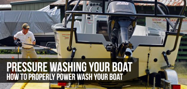 how do pressure wash a boat